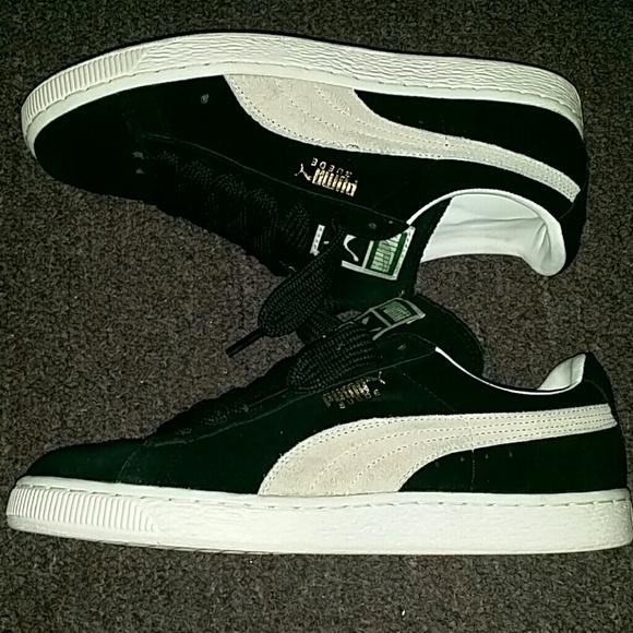 Black Sneaker Suede Classic White Puma Original Ok80wPn